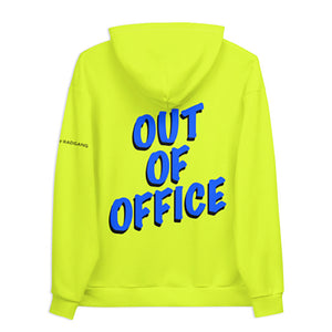 Oversized Graphic Neon Unisex Hoodie Rad by Radgang