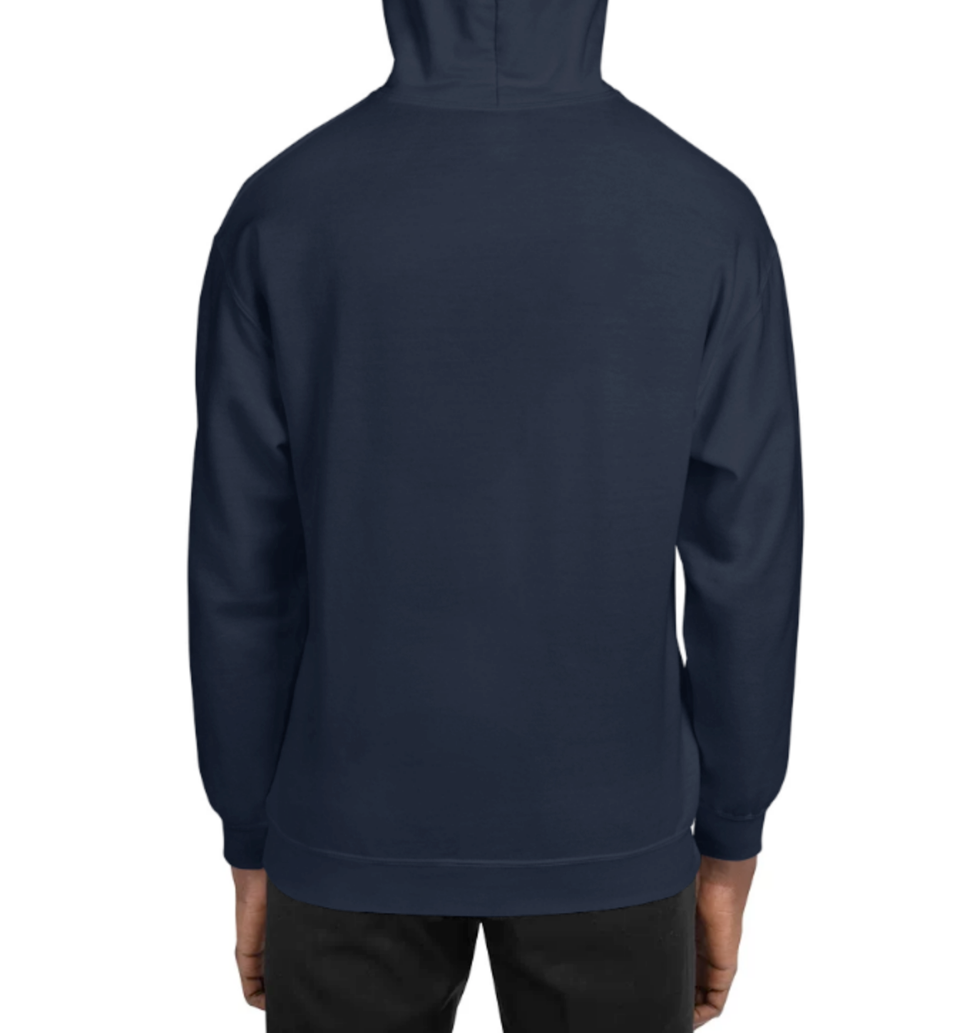 GILDAN DAILY COUNTRY CLUB HOODIE - NAVY/ SPORT GREY
