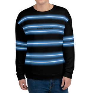 NEON LIGHT STRIPED SWEATSHIRT - BLACK-BLUE