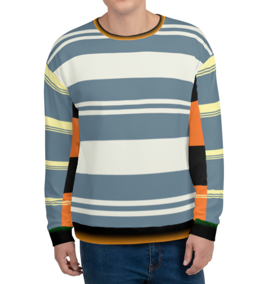 SKATE-EASY MULTI-STRIPED COLORBLOCK SWEATSHIRT - STRIPES