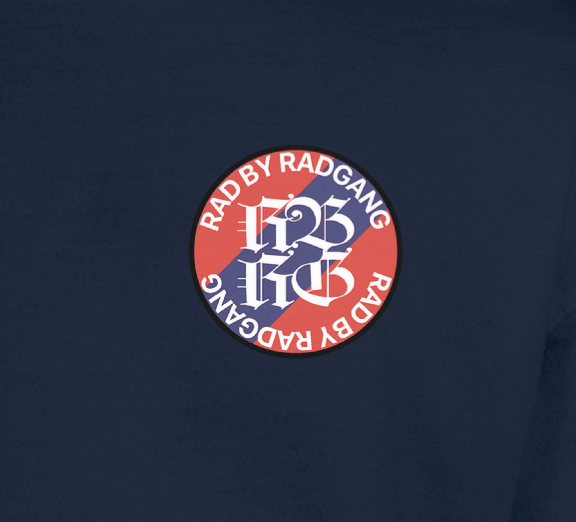 GILDAN DAILY EMBROIDERY LOGO SWEATSHIRT - NAVY