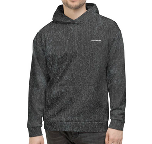Open image in slideshow, WASHED-EFFECT SKATE-EASY HOODIE - BLACK
