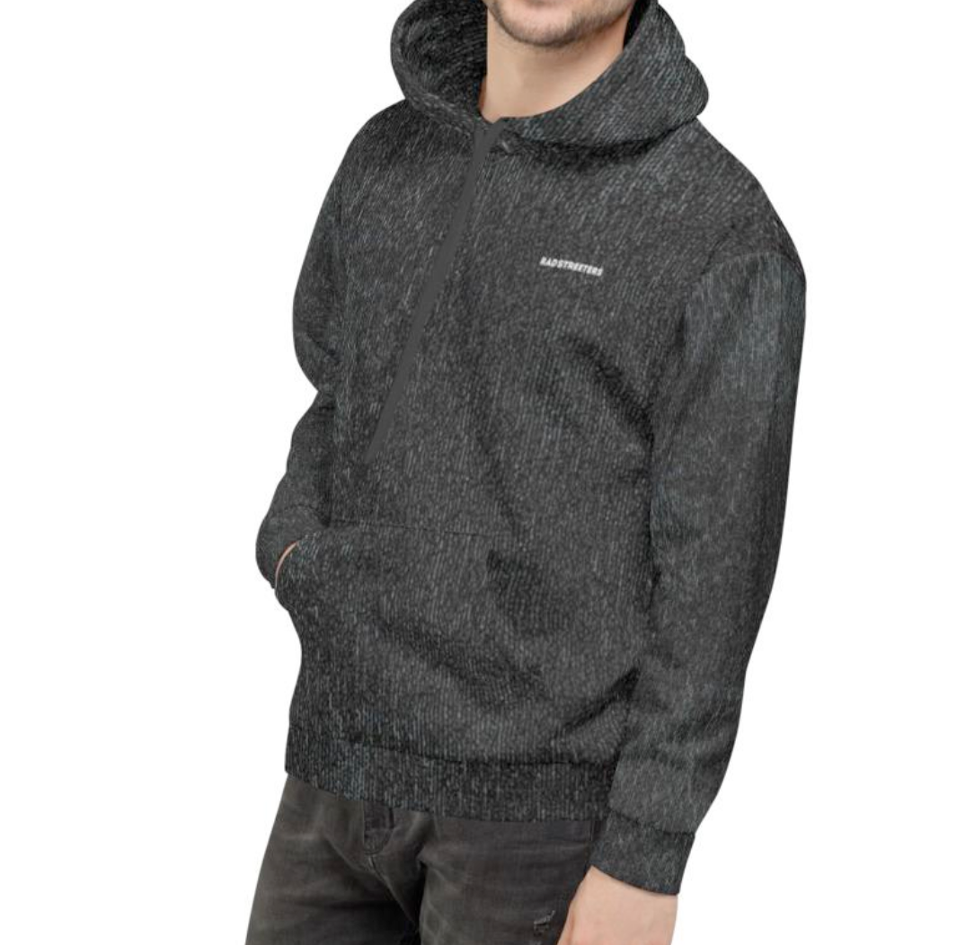 WASHED-EFFECT SKATE-EASY HOODIE - BLACK