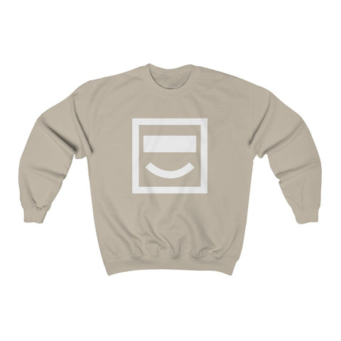 Face Detection Crewneck Sweatshirt - Sand