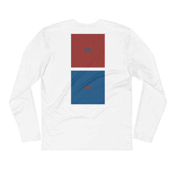 COLOR SWAP OVERSIZED LONG SLEEVE TEE - WHITE/ BLACK