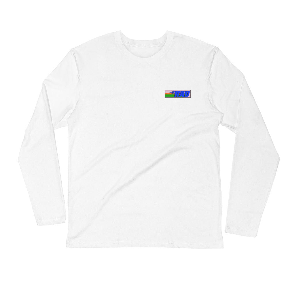 RAD FLAME 2.0 OVERSIZED LONG SLEEVE TEE - WHITE