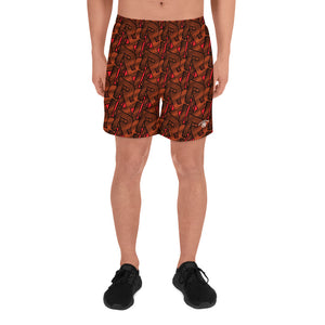 Open image in slideshow, CONTRAST MONOGRAM SPORT SHORTS - LAVA