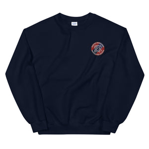 Open image in slideshow, GILDAN DAILY EMBROIDERY LOGO SWEATSHIRT - NAVY
