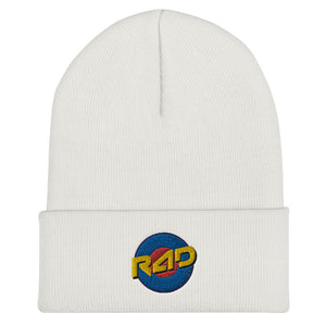 Open image in slideshow, TARGET CUFFED BEANIE - WHITE