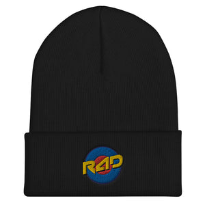 Open image in slideshow, TARGET CUFFED BEANIE - BLACK