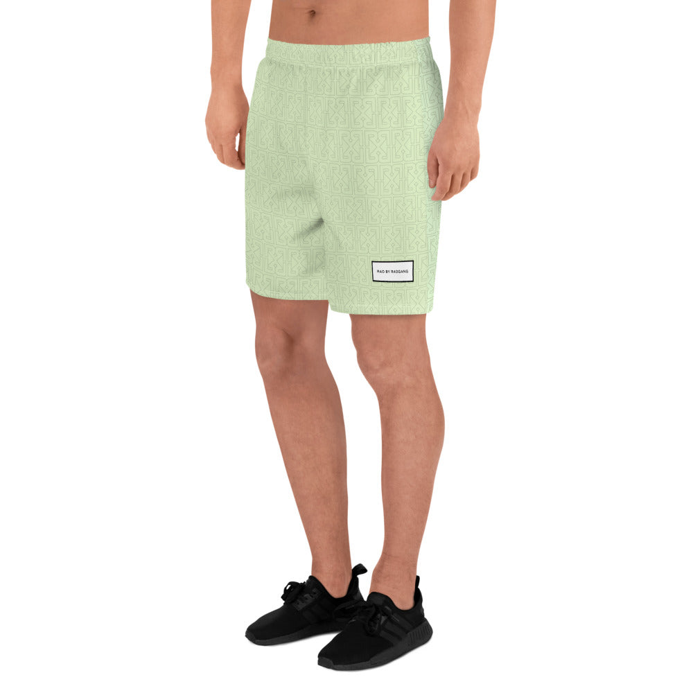 HIDDEN MONOGRAM SPORT SHORTS - ARMY IRIDESCENT