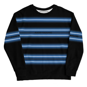 Open image in slideshow, NEON LIGHT STRIPED SWEATSHIRT - BLACK-BLUE