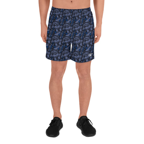 CONTRAST MONOGRAM SPORT SHORTS - BLUE