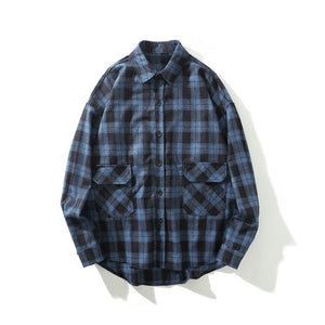 Open image in slideshow, CHECK OVERSHIRT - BLUE
