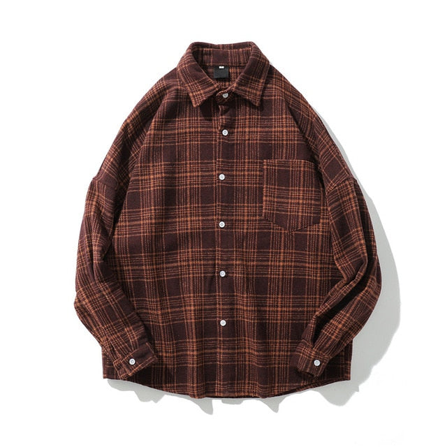 Men's Check Overshirt in Wool Fitted Flannel Rad by Radgang