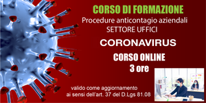 Procedure anticontagio [Settore Uffici] 3 ore (Online)