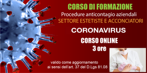 Procedure anticontagio [Settore Estetiste-Acconciatori] 3 ore (Online)