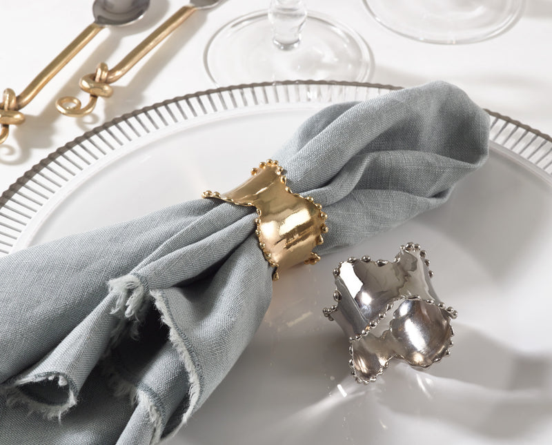 Gold Metal Classic Napkin Rings