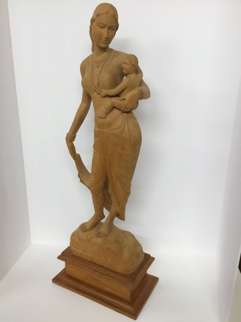 Sienna Traditional Wood Sculpture