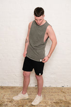 Load image into Gallery viewer, sleeveless + shorts: stonewash green and black bundle