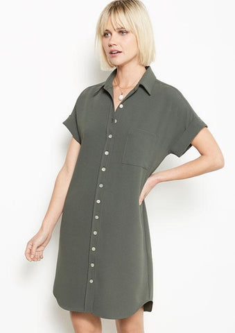 Fifteen Twenty Pocket Shirtdress - Only 1 XSmall Left!