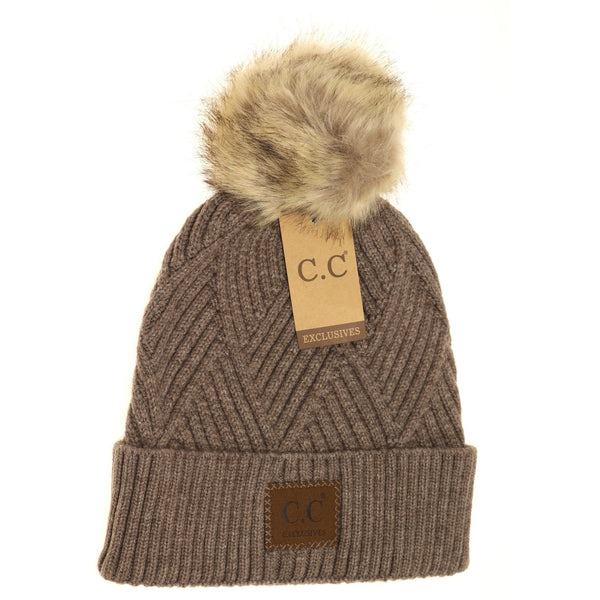 CC Diamond Knit Hat