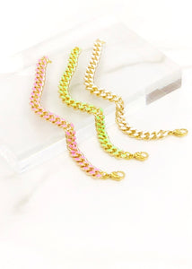 Neon Colored Cuban Bracelets