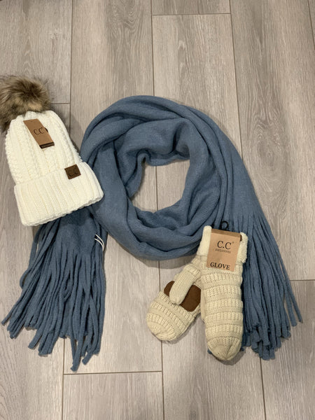 Look by M Fringe Scarf
