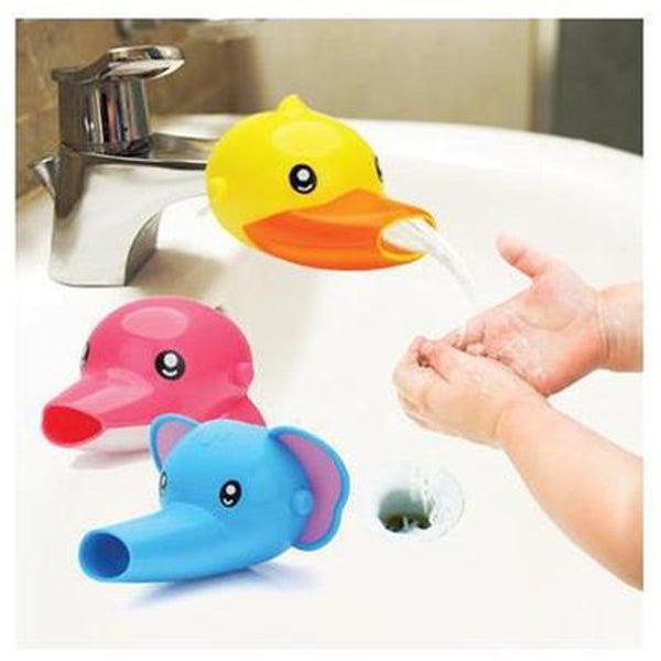 New Fashion Safe Silicone Cute Animal Sink Tap Toddler Wash for Kids Children Hand Washing Bathroom Water Convenience Baby Toyss