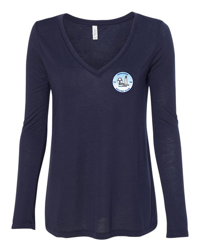 Bella+Canvas - Women's Relaxed V-Neck Long Sleeve