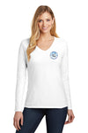 Women's V-Neck Long Sleeve