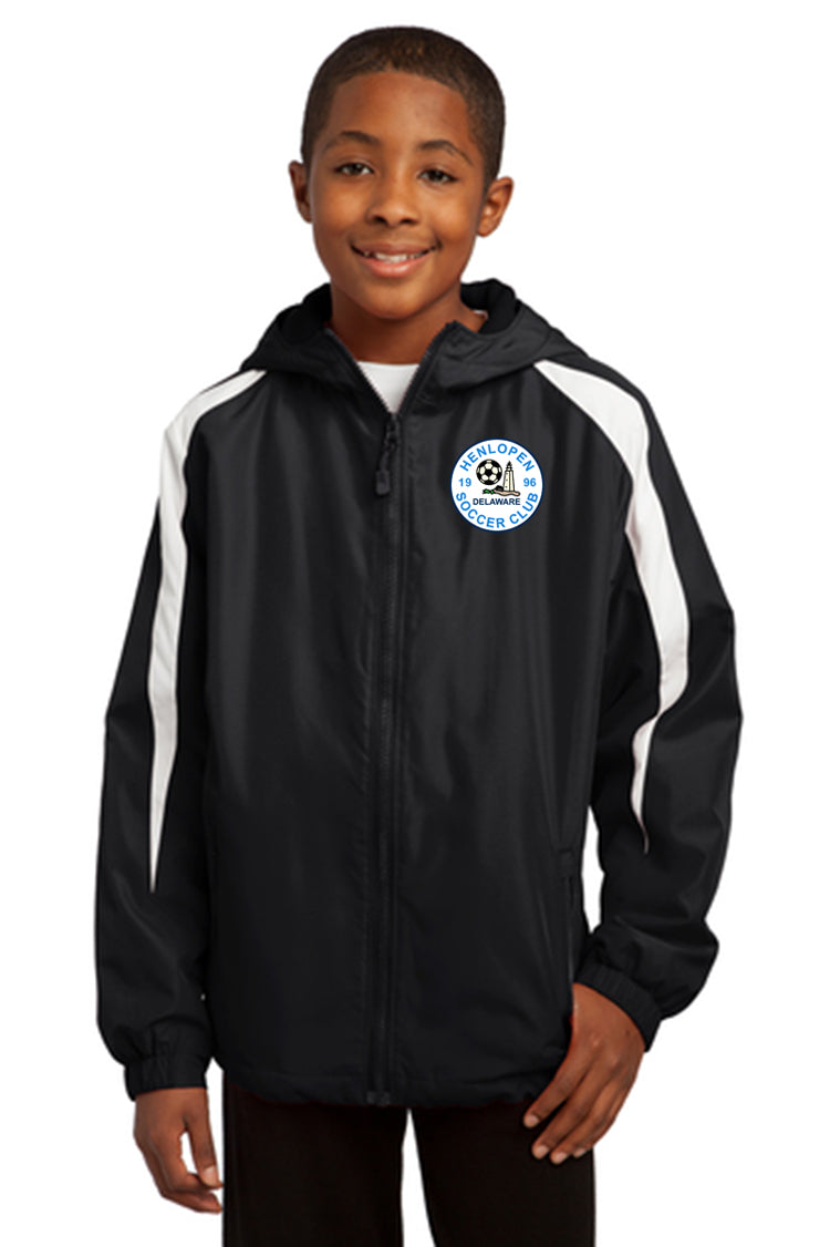 YOUTH Sport-Tek® Hooded Wind Jacket