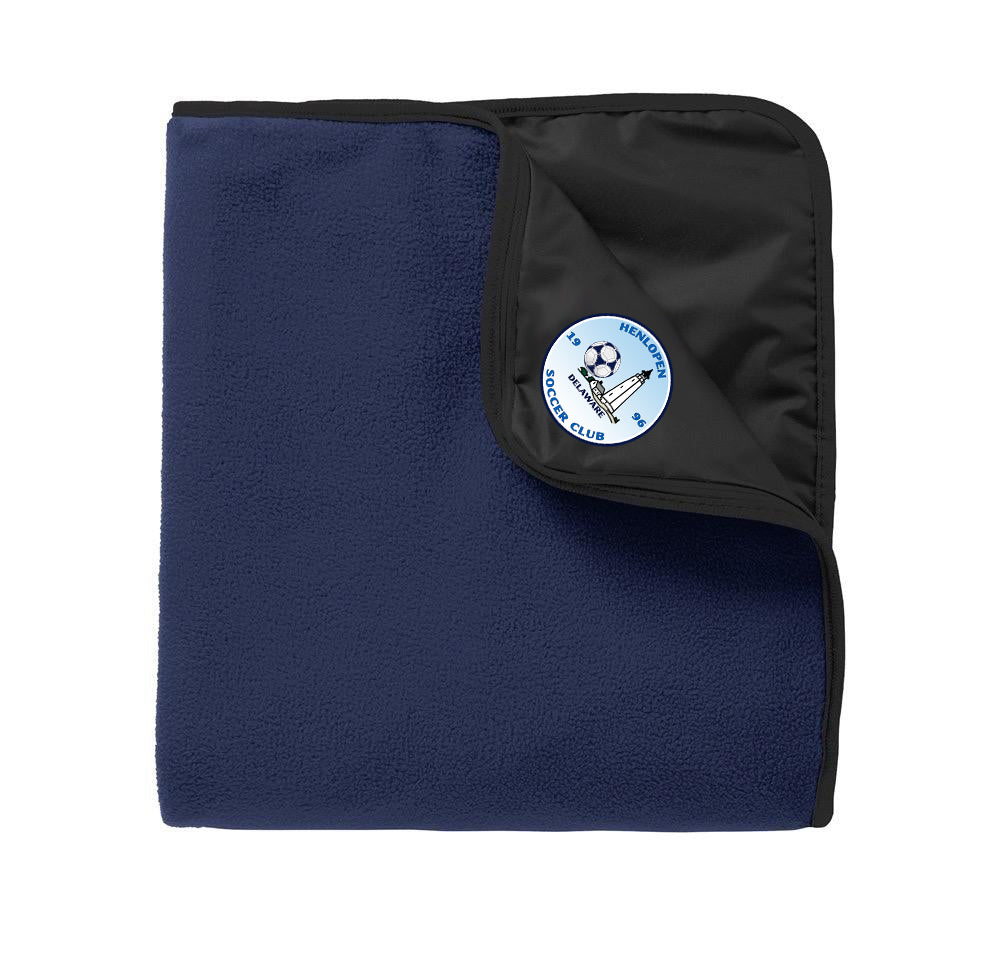 Port Authority® Fleece & Poly Travel Blanket (Water Resistant)