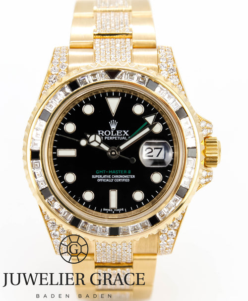 GMT MASTER II 18K GOLD DIAMONDS