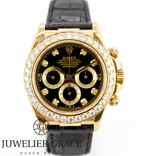 Rolex Daytona  Zenith 18k Diamonds Aftermarket