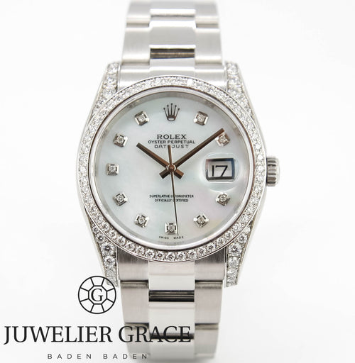Rolex Datejust 36mm 2016 MOP DIAMONDS AFTERMARKET  BADEN - BADEN