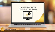 Load image into Gallery viewer, Cart Icon with Item Calculator