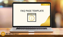 Load image into Gallery viewer, FAQ Page Template