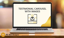 Load image into Gallery viewer, Testimonial Carousel with images