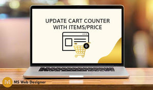 Update Cart Counter with items/price