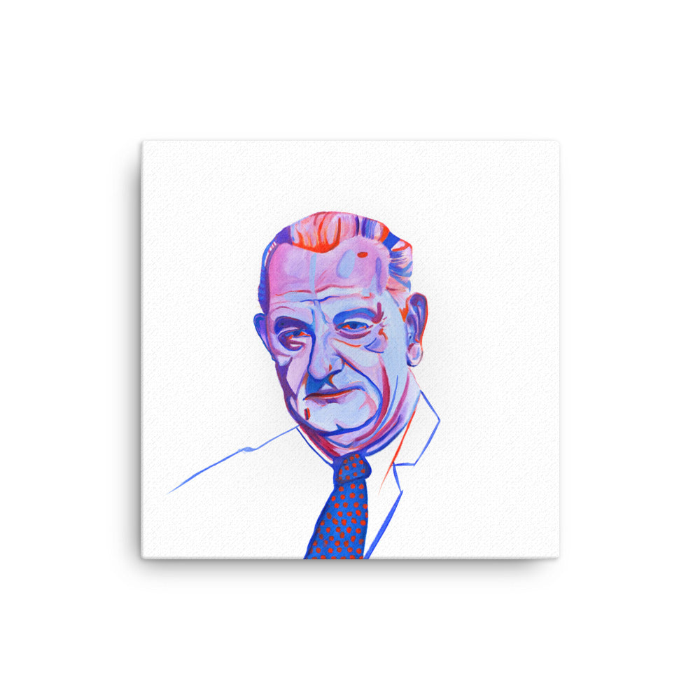 Lyndon Johnson Canvas Print
