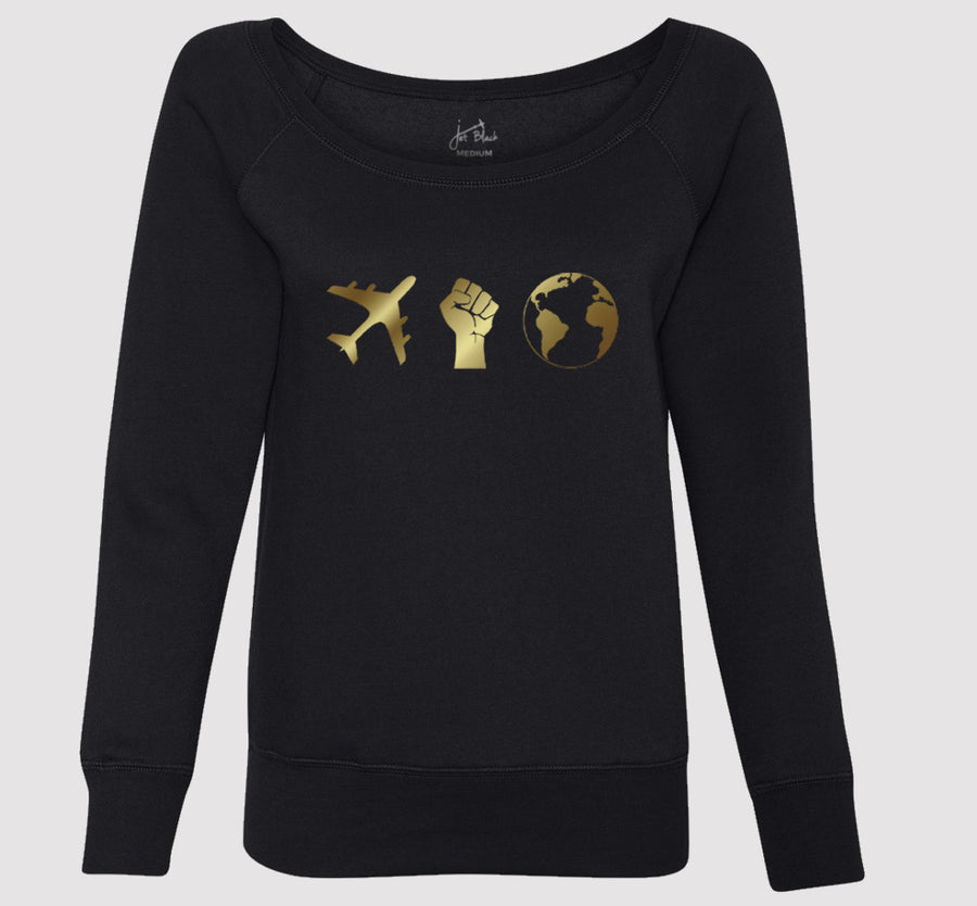 Women's Jet Black Sweatshirt