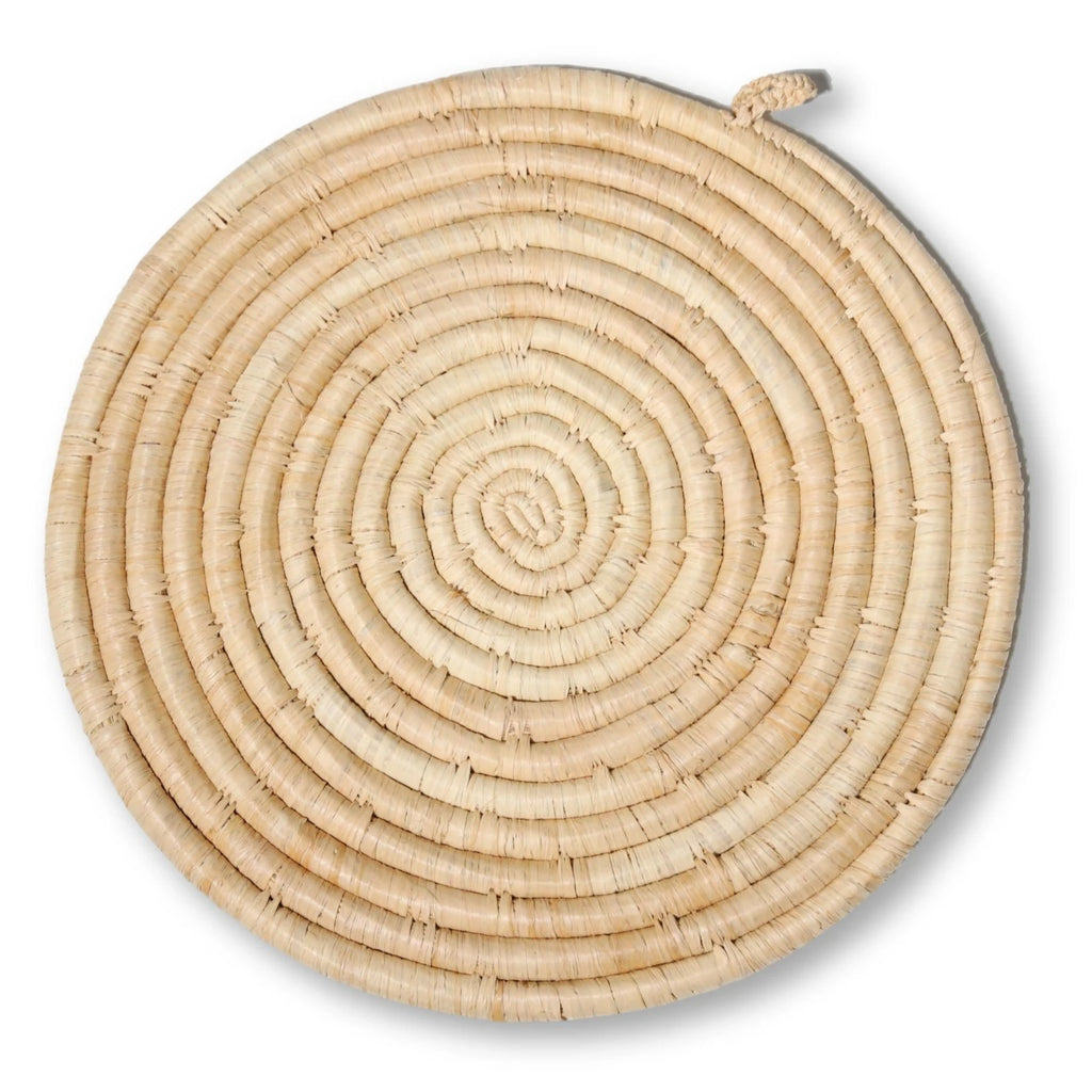 Raffia Potholder - Natural