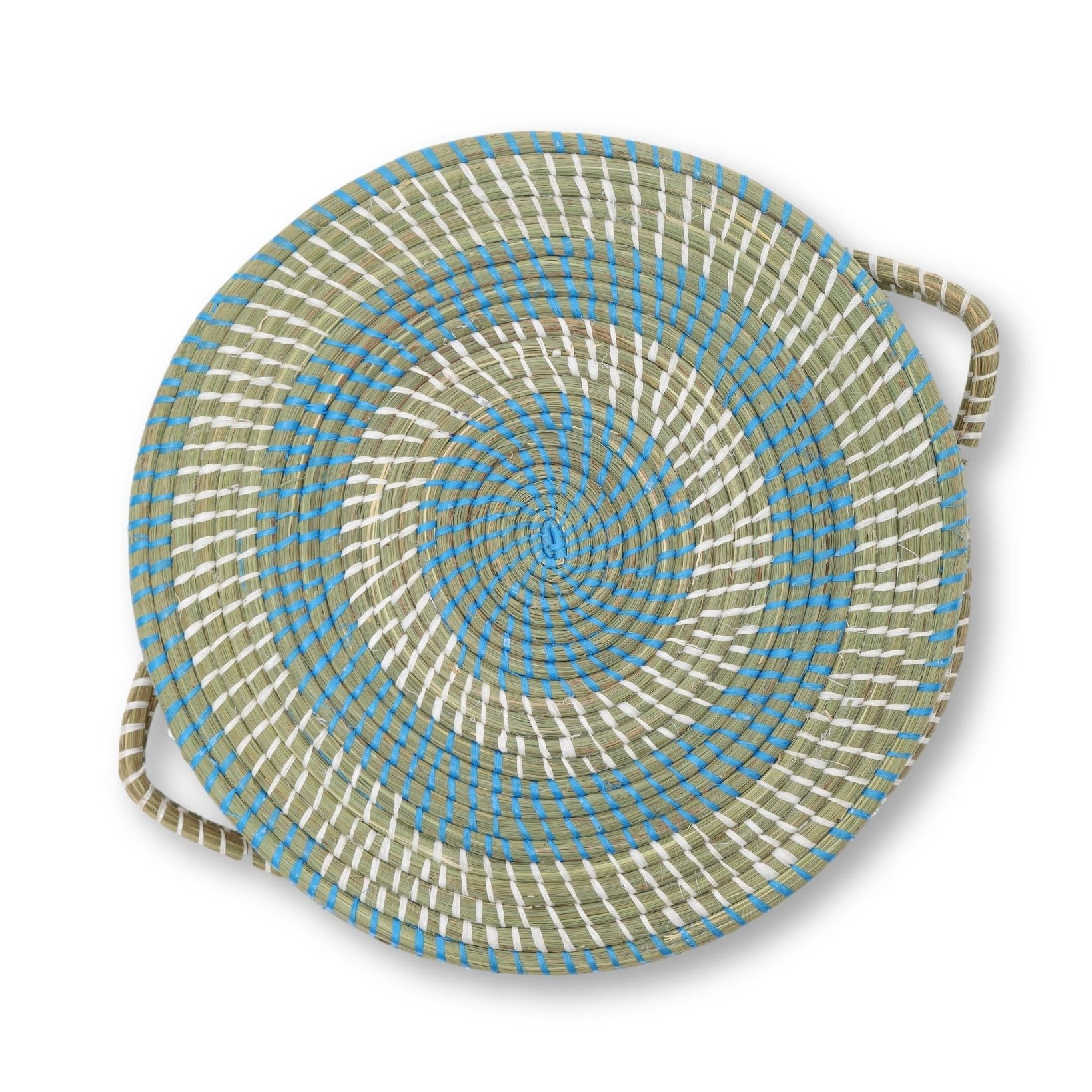 Raffia Basket with Lid