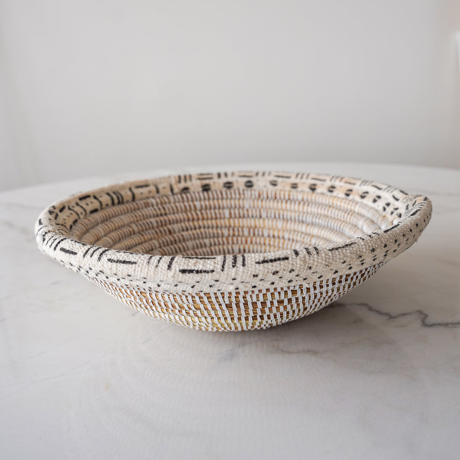 The Diouf Basket - White Bogolan