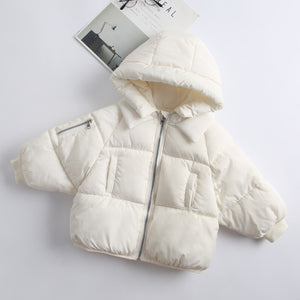Kids White Padded Coat