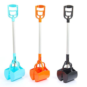 Foldable plastic pet waste scooper