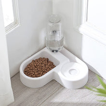 Load image into Gallery viewer, Corner Food Bowl w/water dispenser