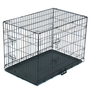 Folding Double door Crate w/Tray