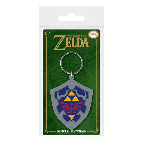 Legend of Zelda -Hylian Shield  Rubber Keyring